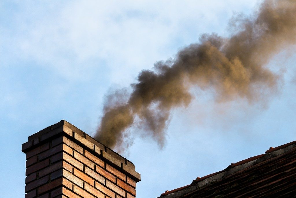 smoke coming from chimney