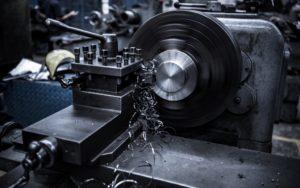 black manufacturing machine