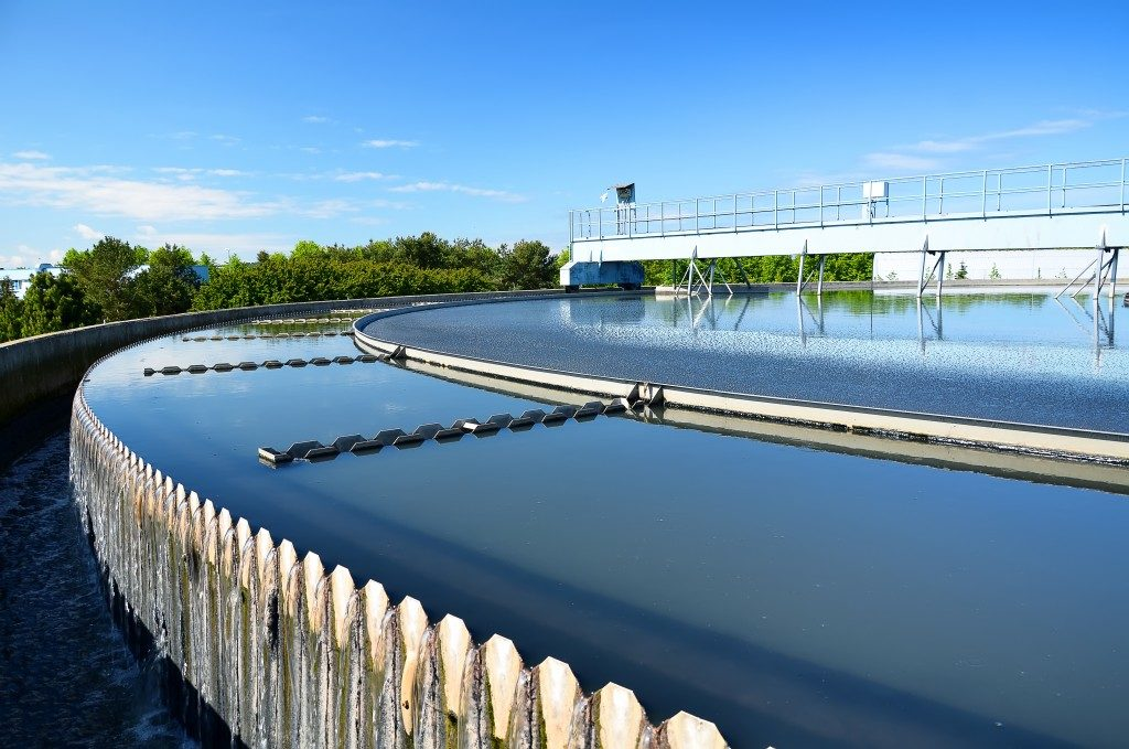 Modern urban wastewater treatment plant