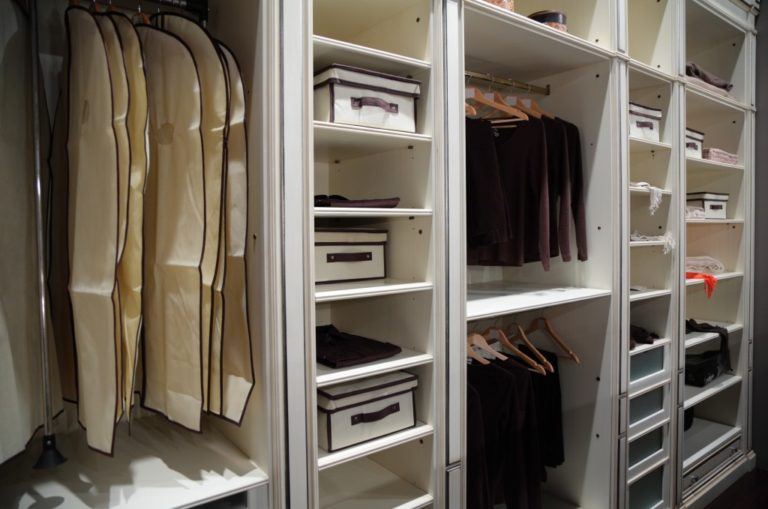 inside a closet