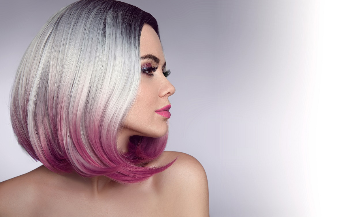 woman with colored hair