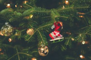 christmas ornamet on a tree