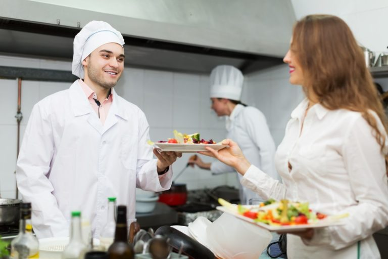 cooks in a restaurant