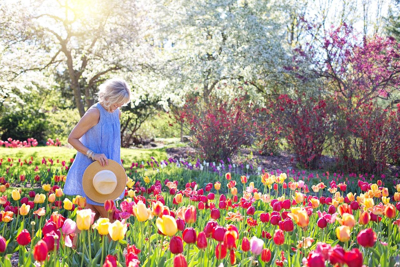 woman at a garden