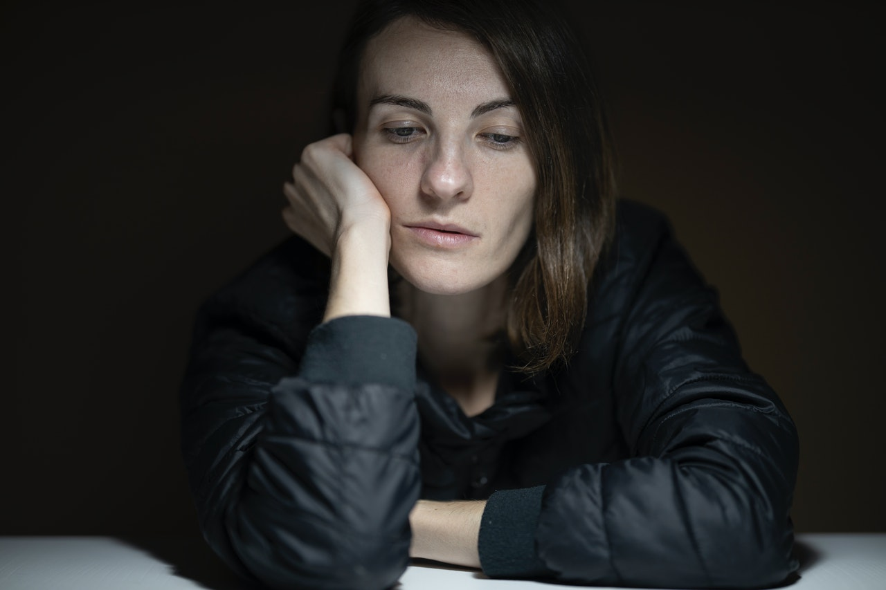 woman looking and feeling depressed