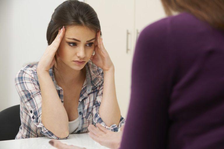 struggling teen
