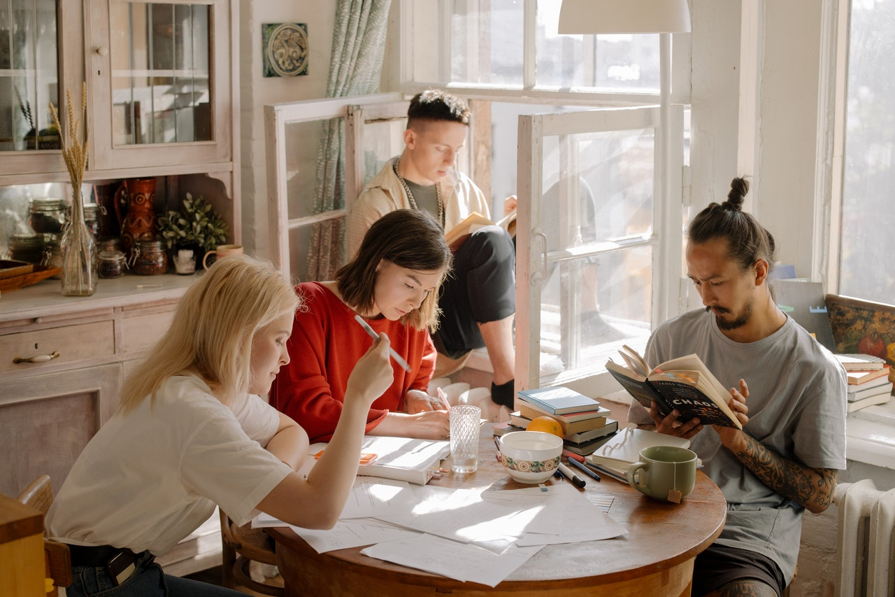 students in a shared housing