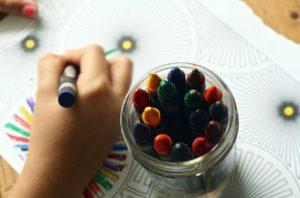 drawing using crayons